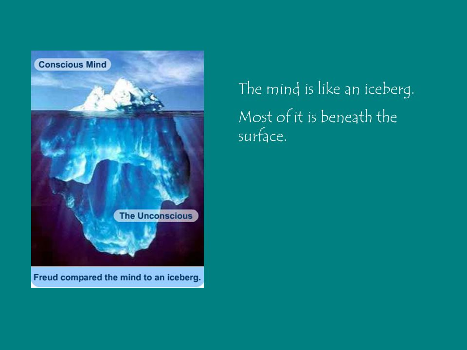 The mind is like an iceberg.