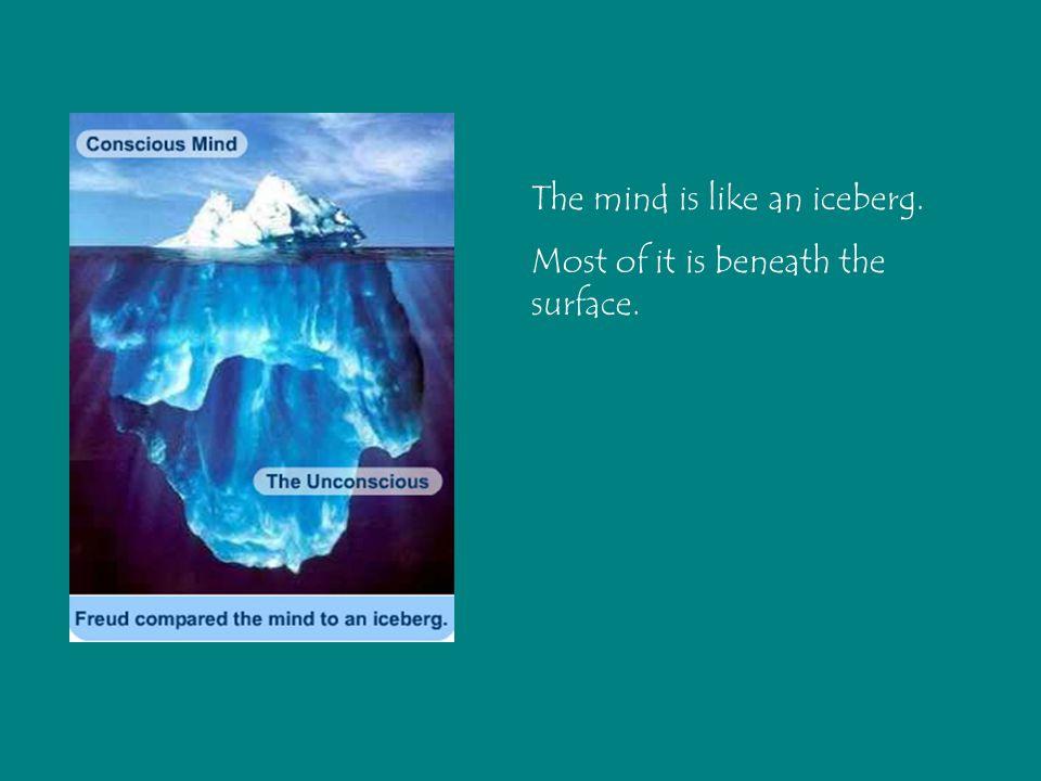 The mind is like an iceberg.