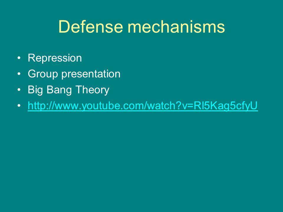 Defense mechanisms Repression Group presentation Big Bang Theory