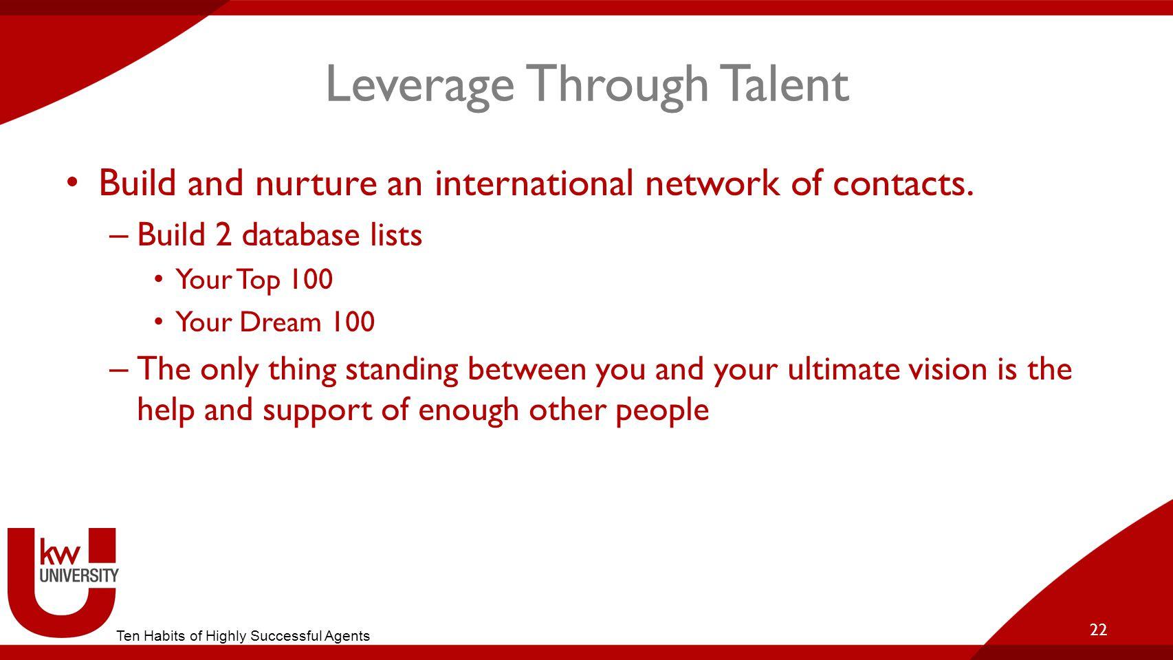 Leverage Through Talent