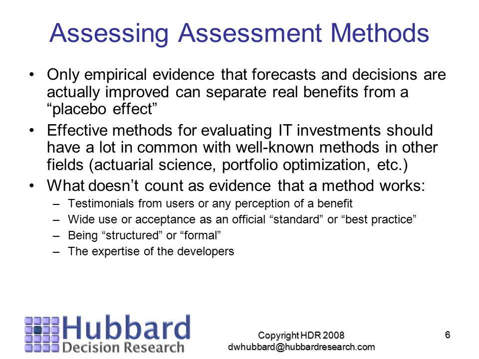 Assessing Assessment Methods
