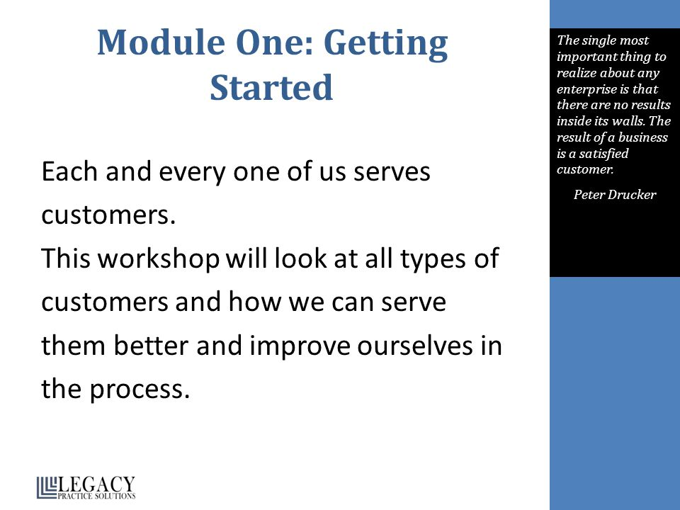 Module One: Getting Started
