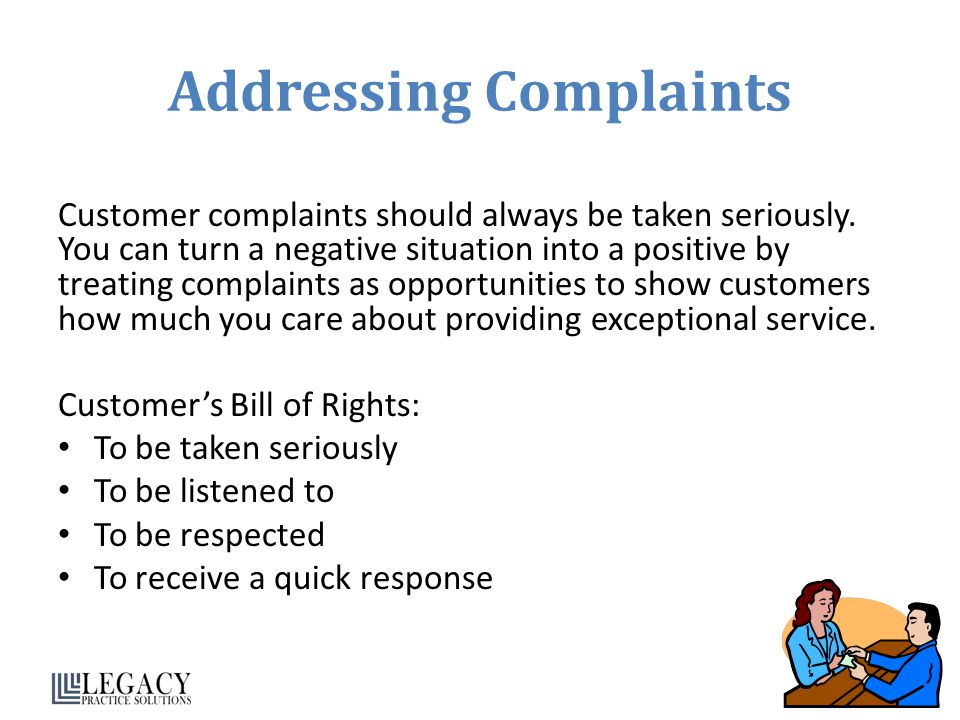 Addressing Complaints