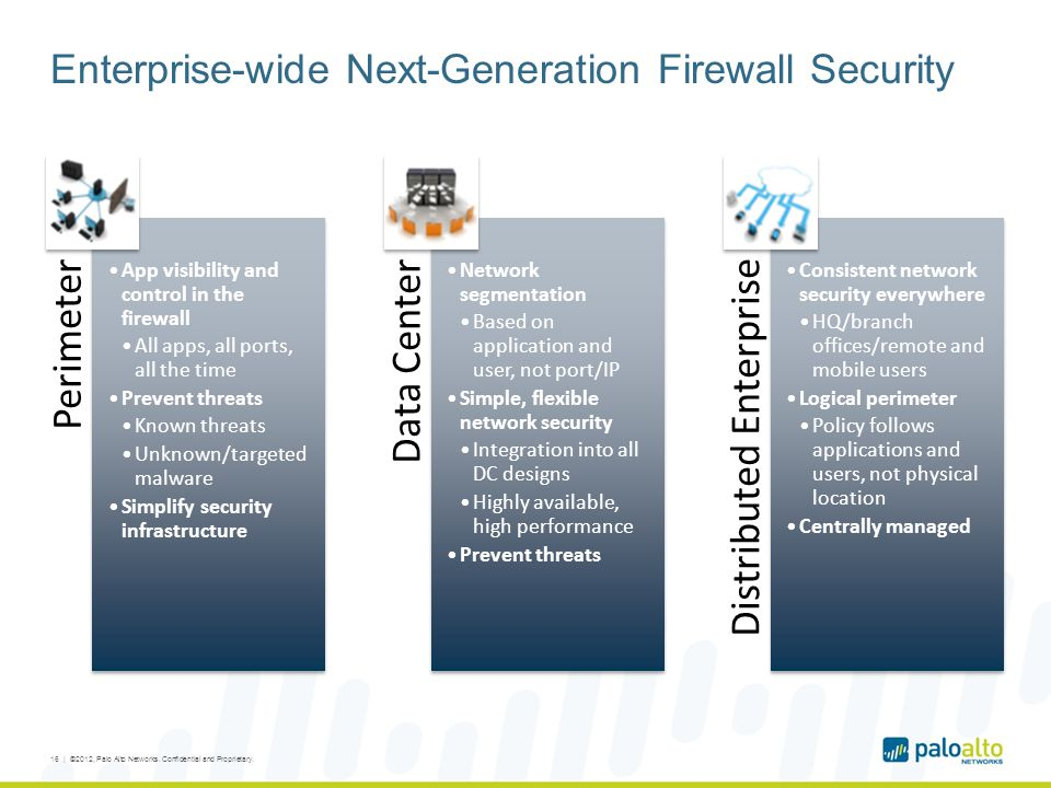Enterprise-wide Next-Generation Firewall Security