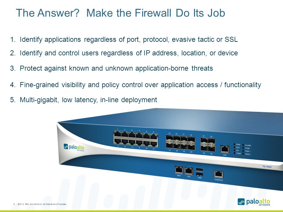 The Answer Make the Firewall Do Its Job