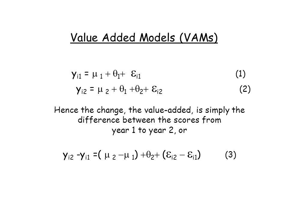 Value Added Models (VAMs)