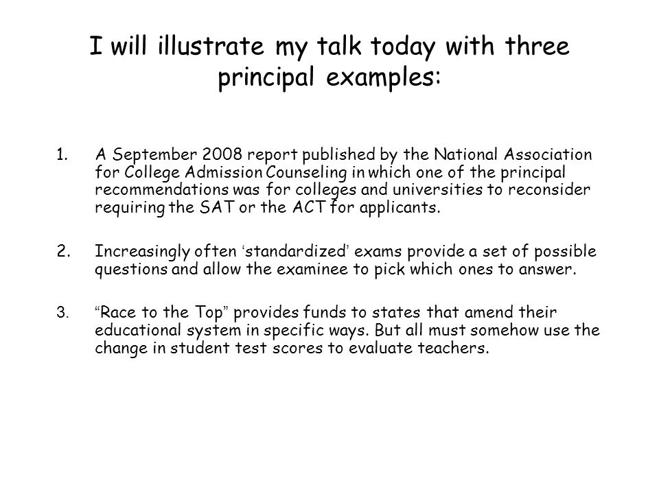 I will illustrate my talk today with three principal examples: