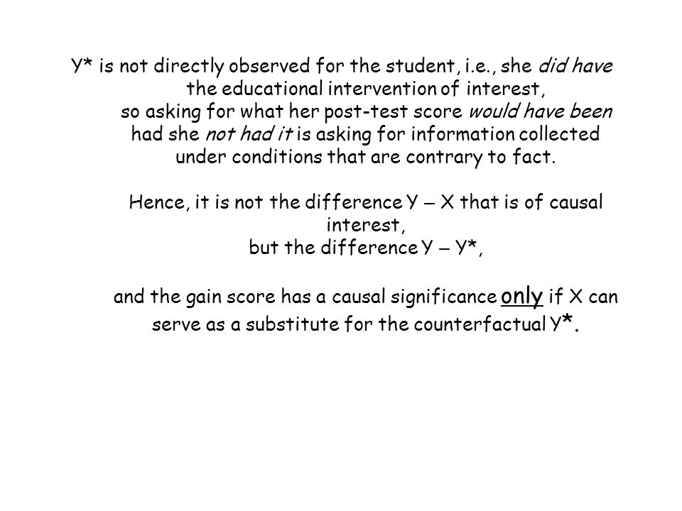 Y. is not directly observed for the student, i. e