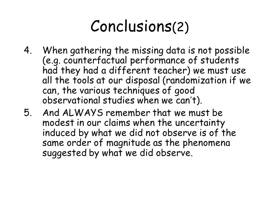 Conclusions(2)