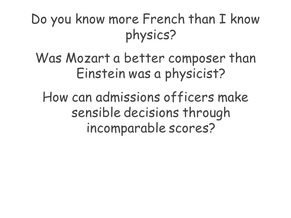 Do you know more French than I know physics