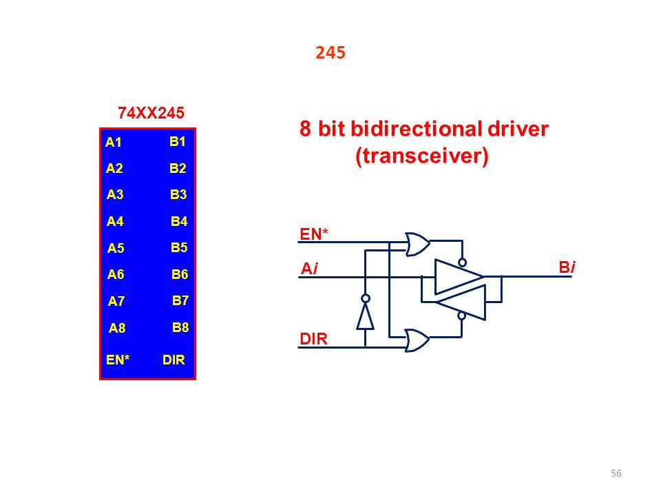 8 bit bidirectional driver