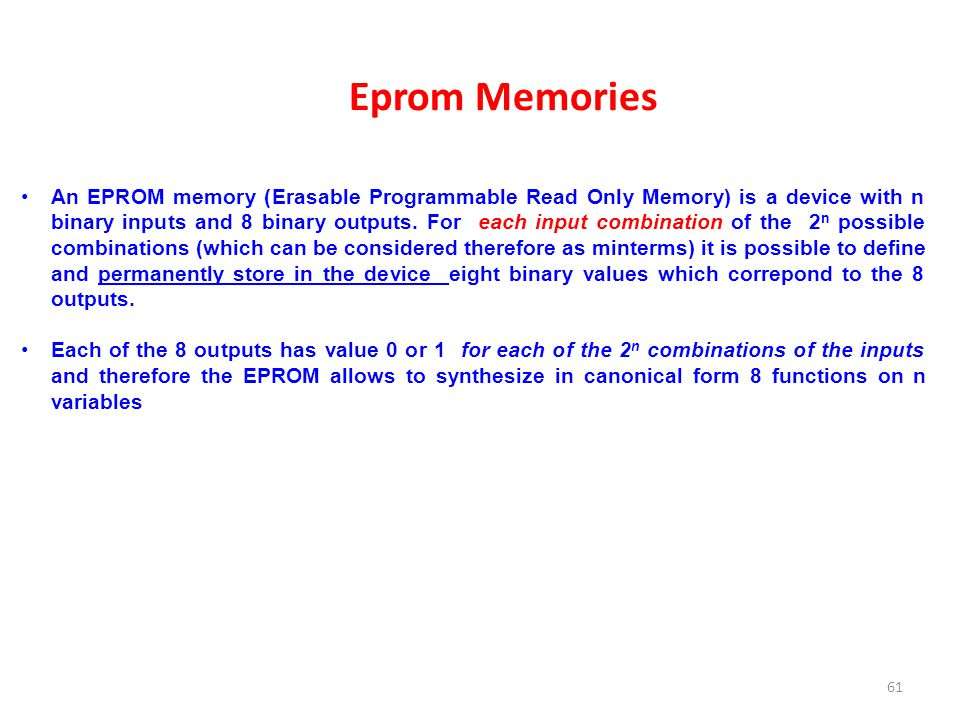 Eprom Memories