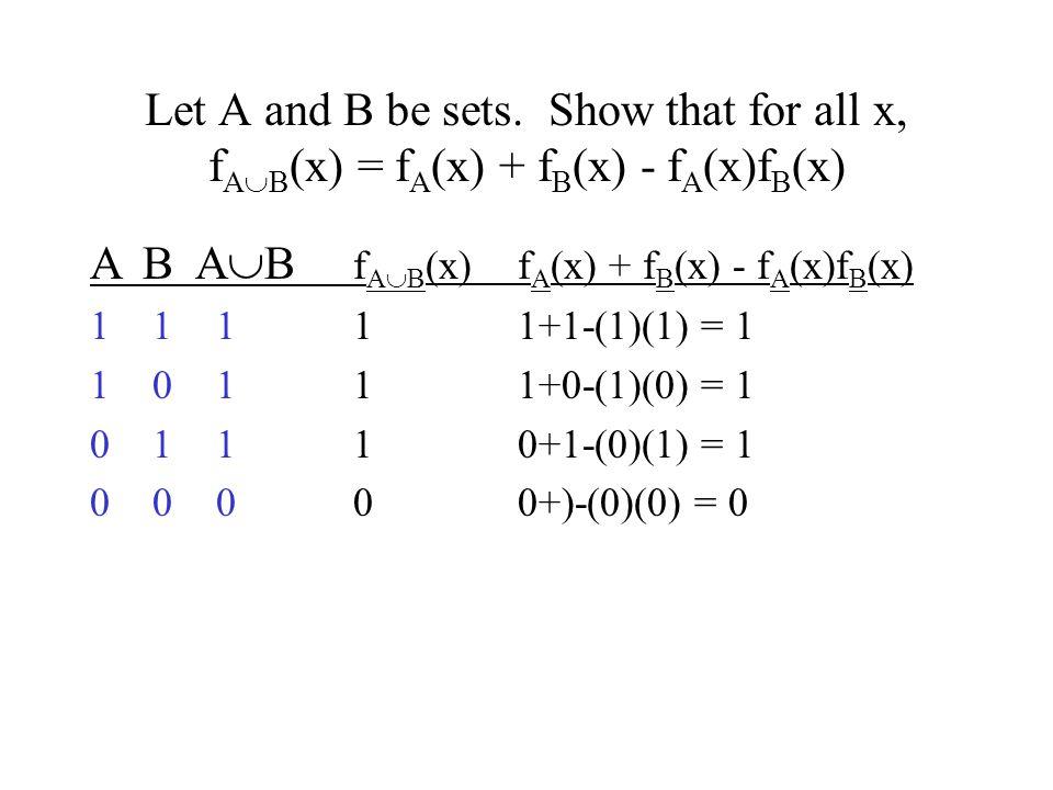 A B AB fAB(x) fA(x) + fB(x) - fA(x)fB(x)