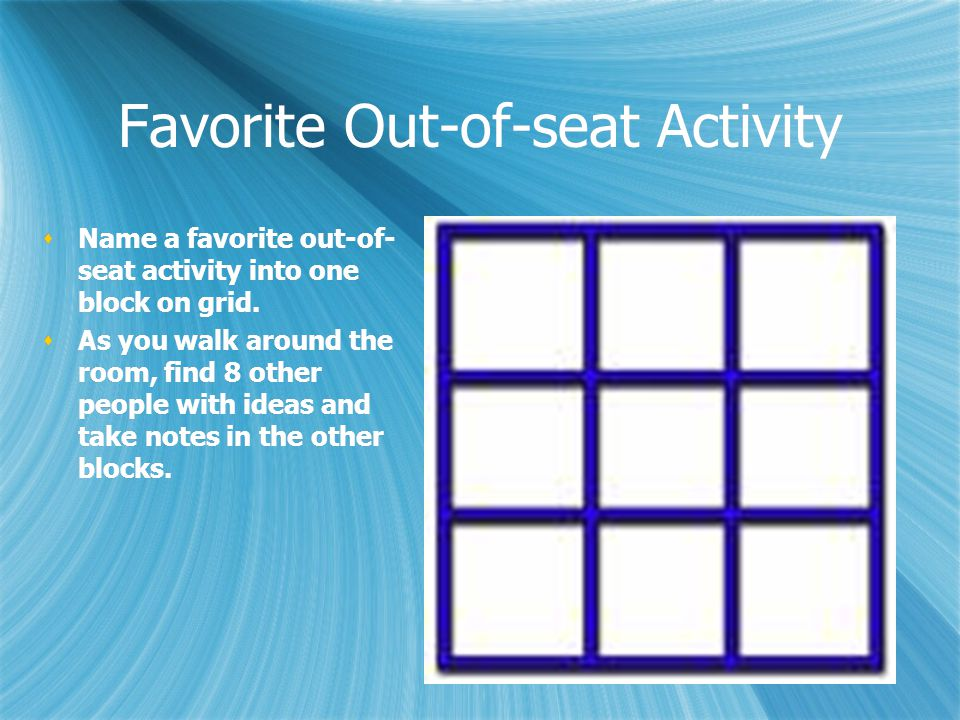 Favorite Out-of-seat Activity