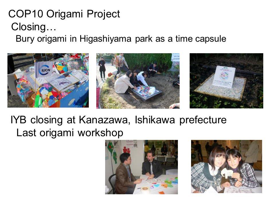 IYB closing at Kanazawa, Ishikawa prefecture Last origami workshop