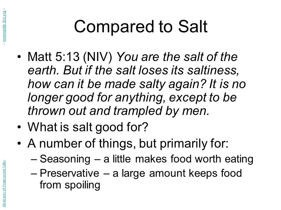 Compared to Salt - newmanlib.ibri.org -