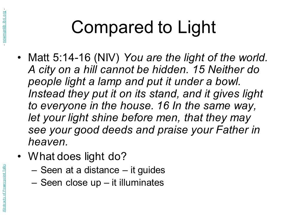 Compared to Light - newmanlib.ibri.org -
