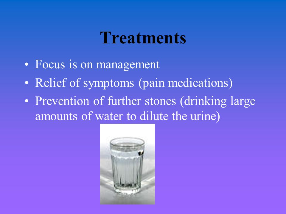 Treatments Focus is on management