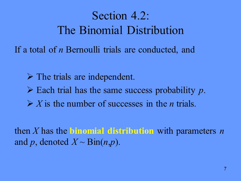 Section 4.2: The Binomial Distribution