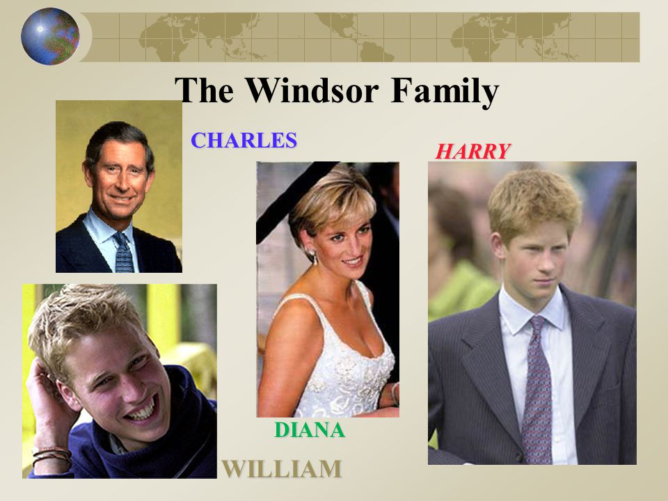 The Windsor Family CHARLES HARRY DIANA WILLIAM