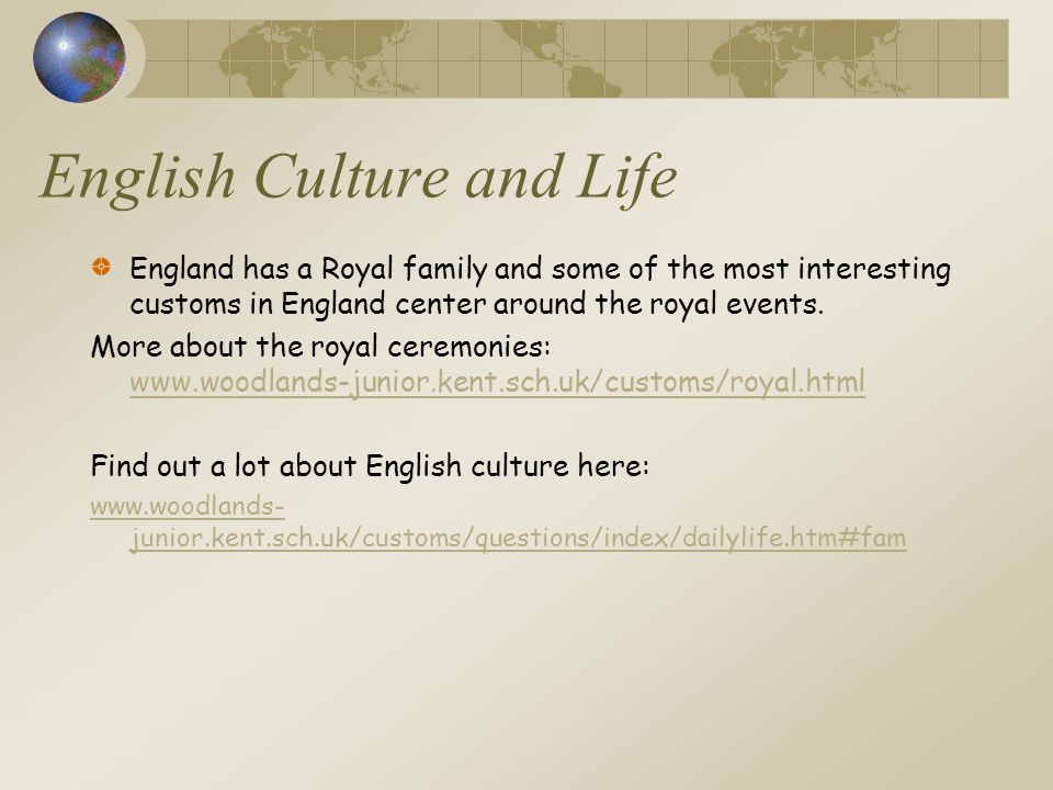 English Culture and Life
