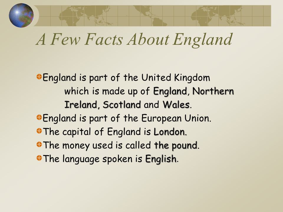 A Few Facts About England