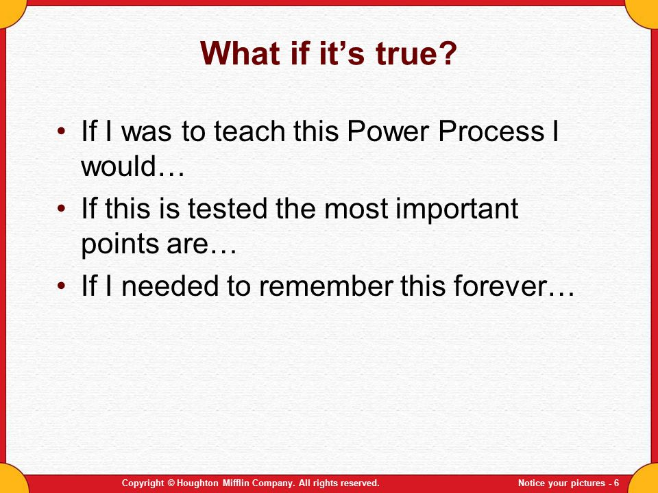What if it's true If I was to teach this Power Process I would…
