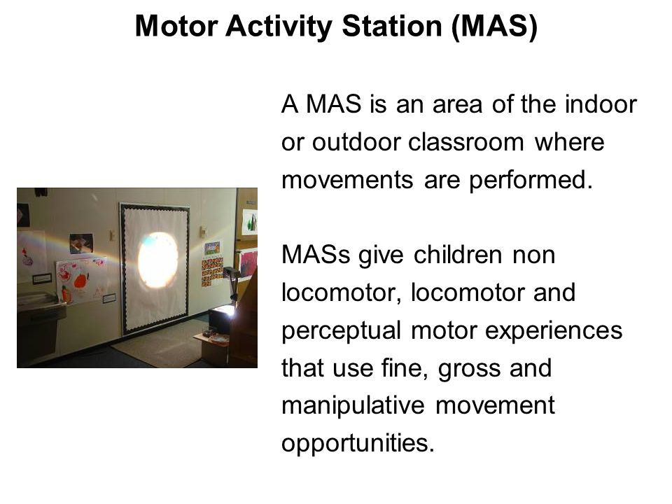 Motor Activity Station (MAS)