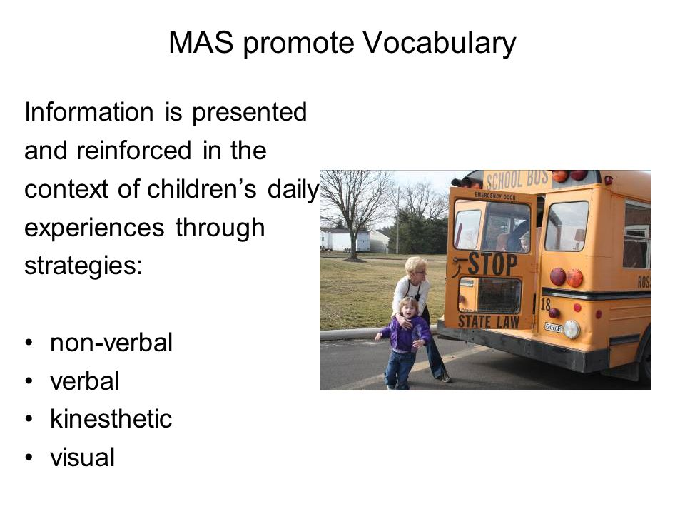 MAS promote Vocabulary