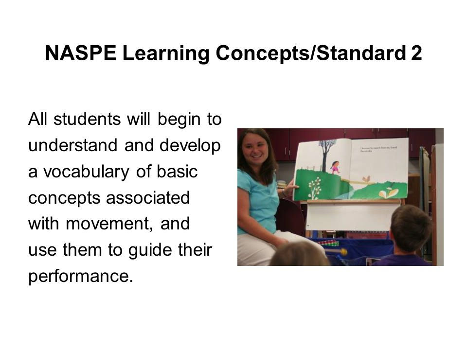 NASPE Learning Concepts/Standard 2