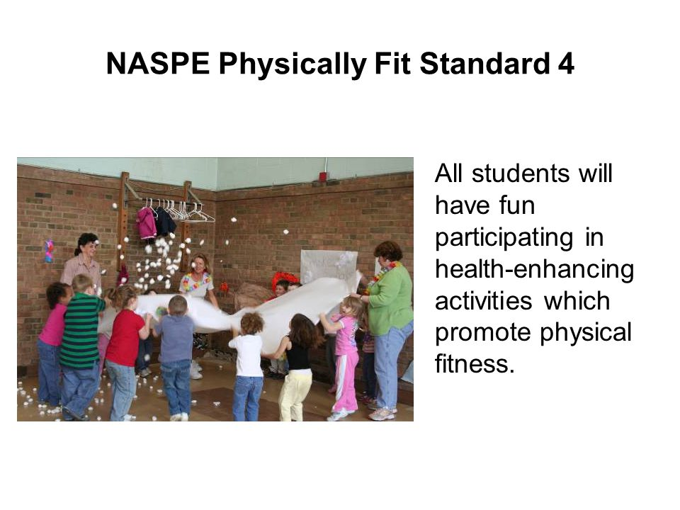 NASPE Physically Fit Standard 4