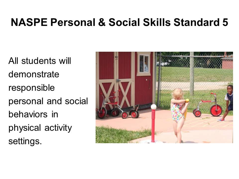 NASPE Personal & Social Skills Standard 5