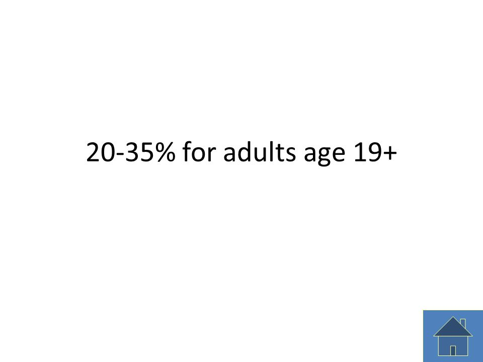 20-35% for adults age 19+