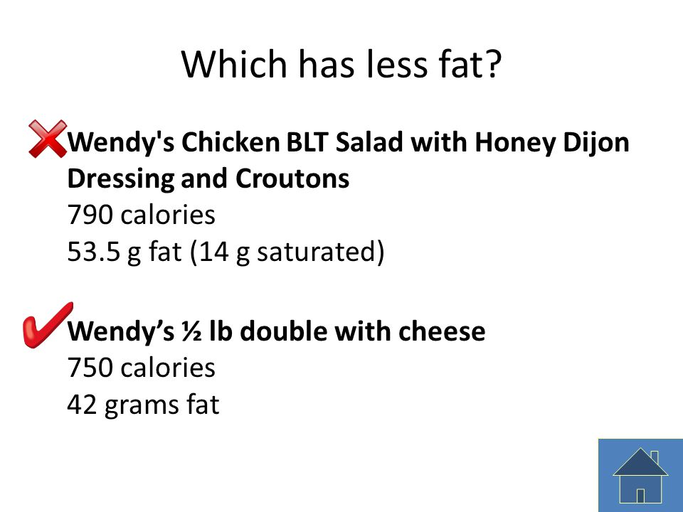 Which has less fat