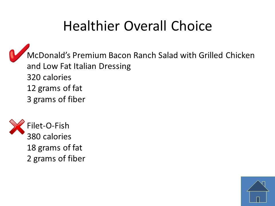 Healthier Overall Choice