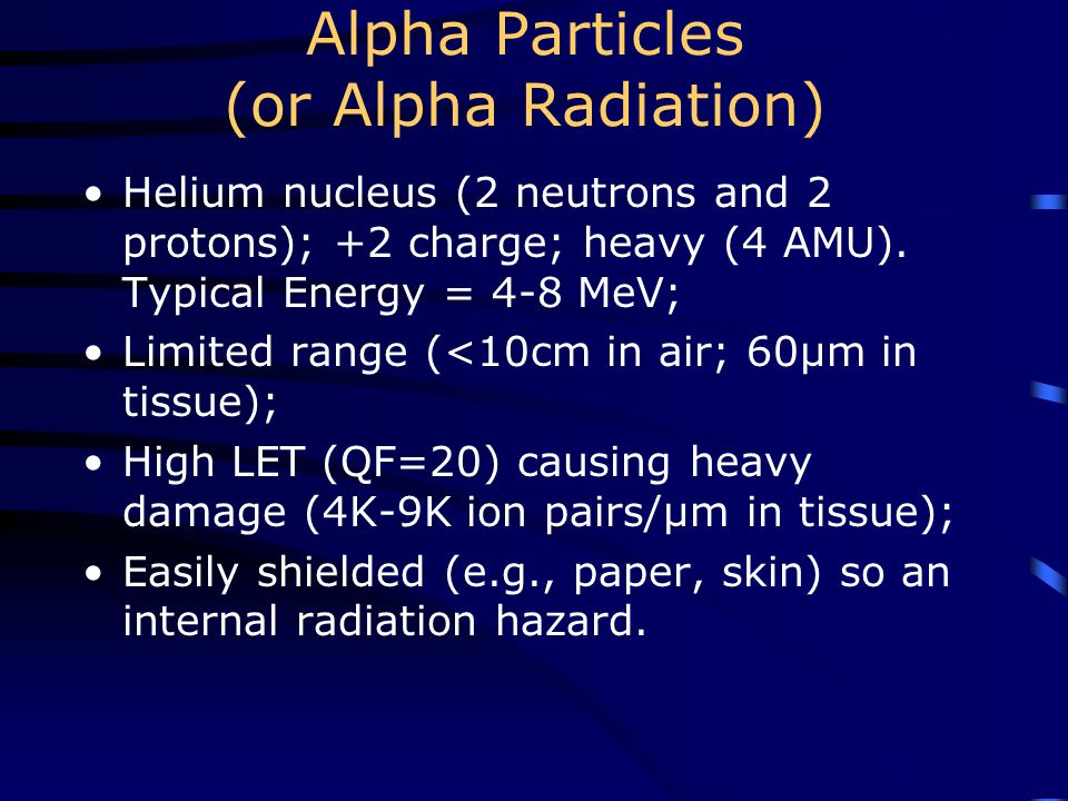 Alpha Particles (or Alpha Radiation)