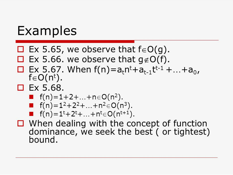 Examples Ex 5.65, we observe that fO(g).