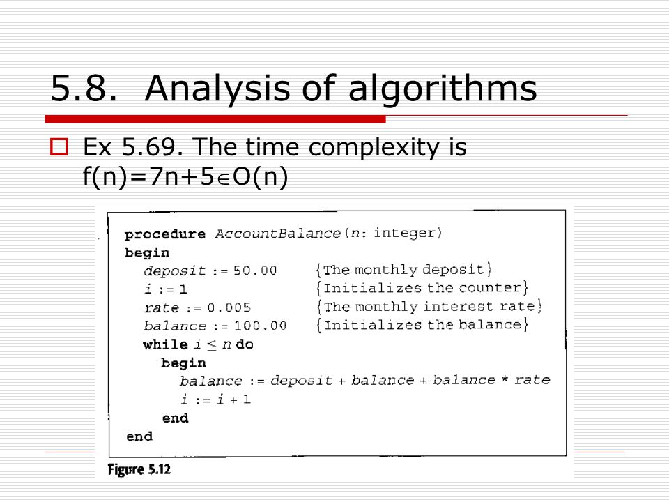 5.8. Analysis of algorithms