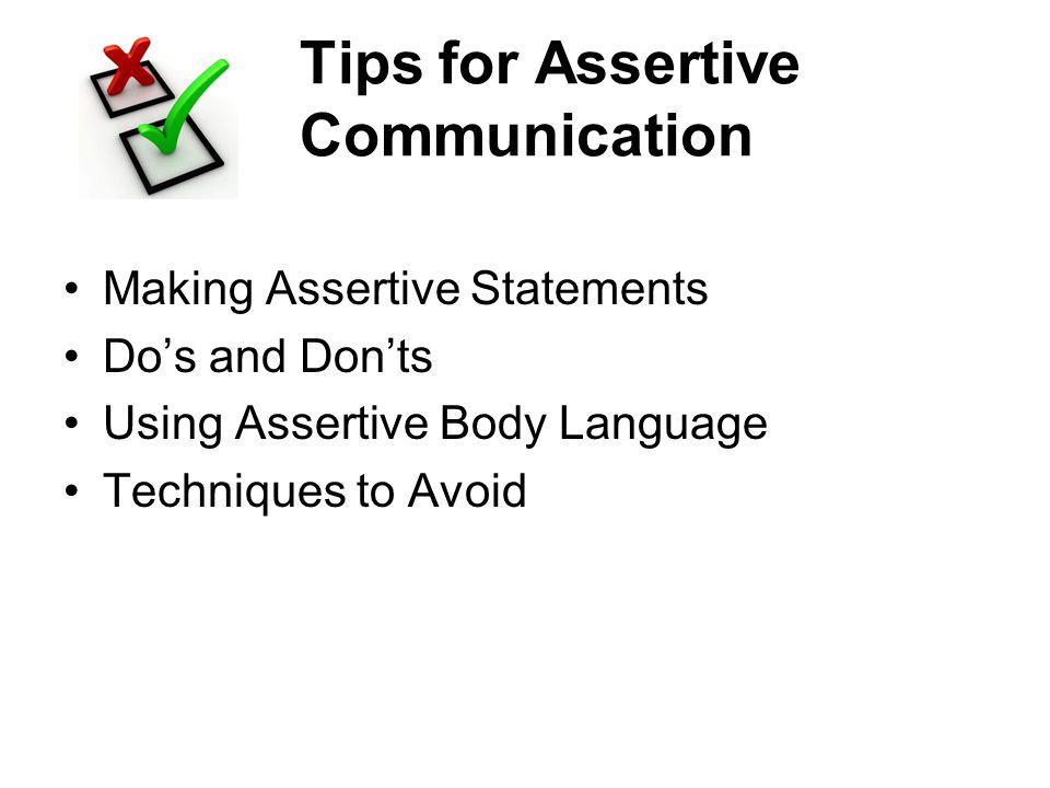 Tips for Assertive Communication