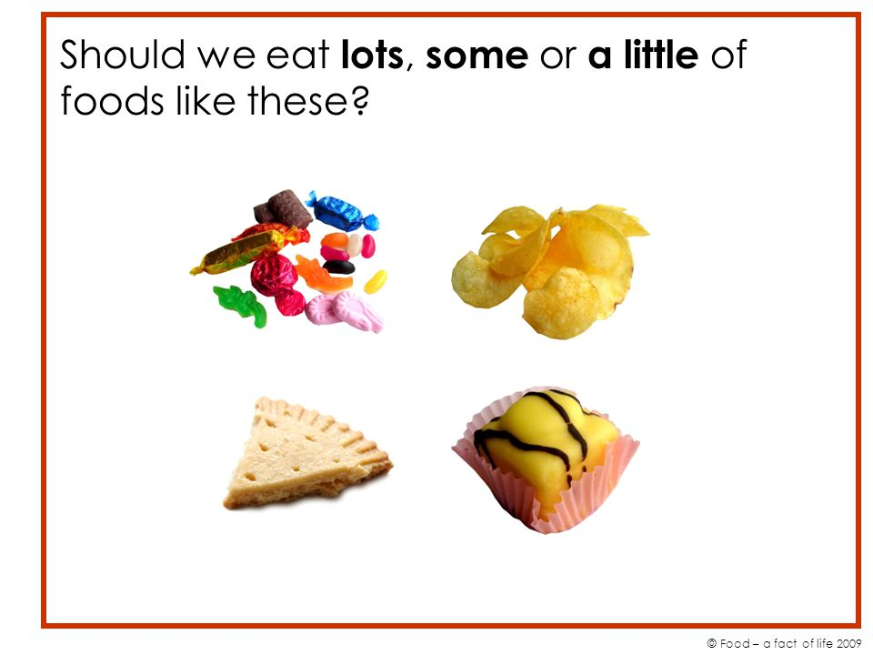 Should we eat lots, some or a little of foods like these