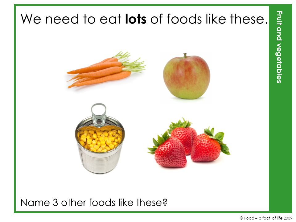 We need to eat lots of foods like these.