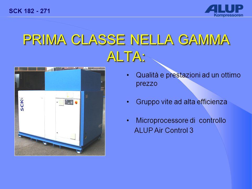 PRIMA CLASSE NELLA GAMMA ALTA: