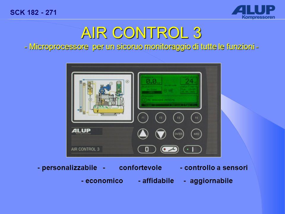 AIR CONTROL 3 - Microprocessore per un sicoruo monitoraggio di tutte le funzioni - - personalizzabile - confortevole - controllo a sensori.