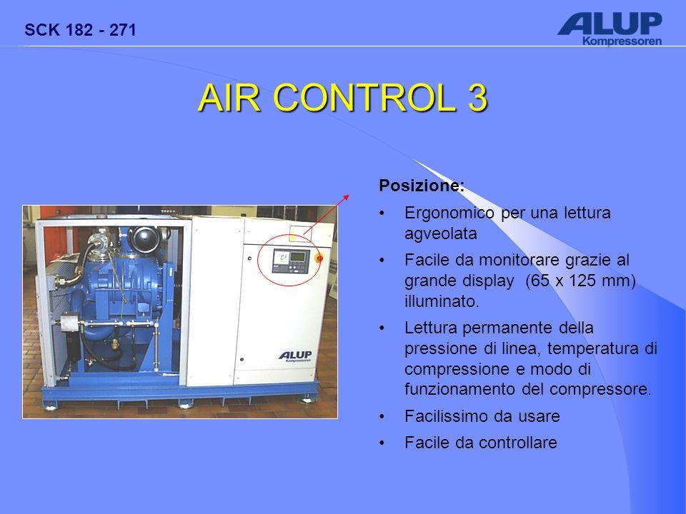 AIR CONTROL 3 Posizione: Ergonomico per una lettura agveolata