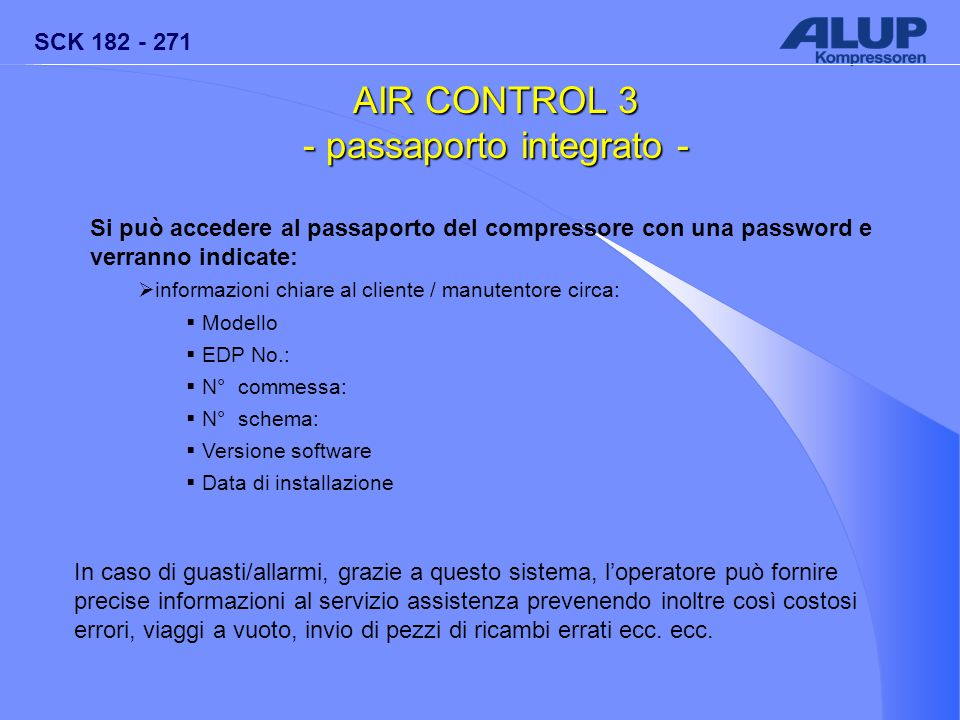 AIR CONTROL 3 - passaporto integrato -