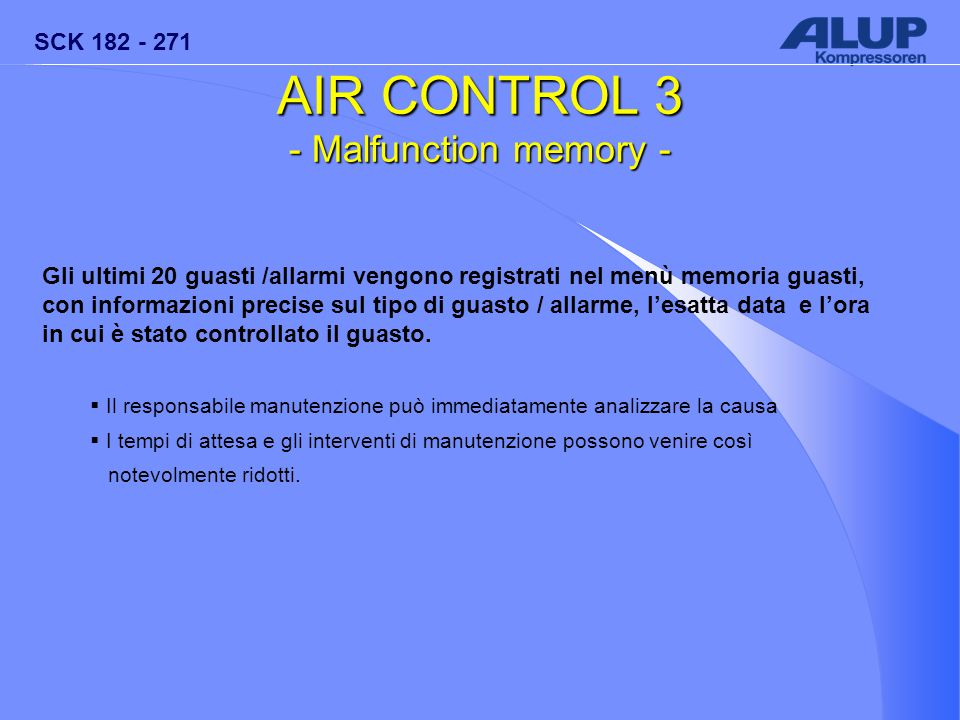 AIR CONTROL 3 - Malfunction memory -