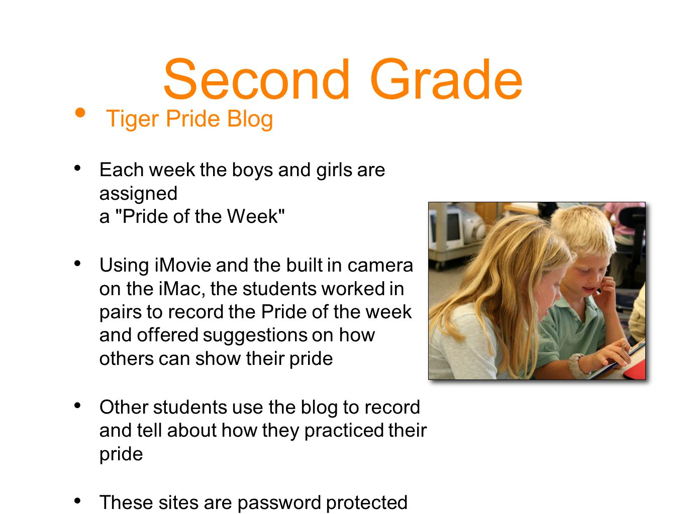 Second Grade Tiger Pride Blog