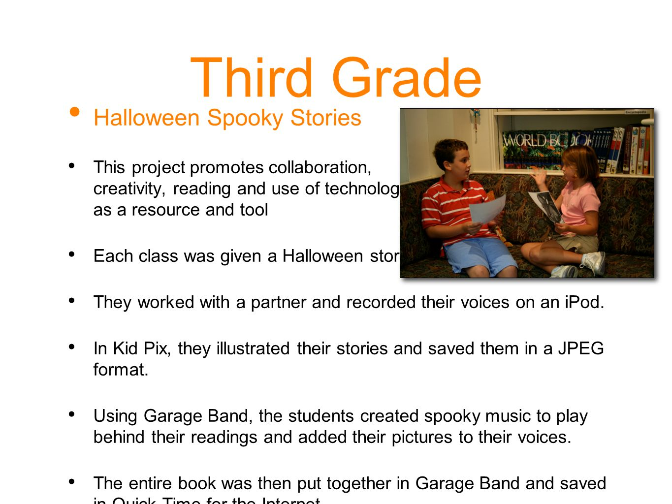 Third Grade Halloween Spooky Stories