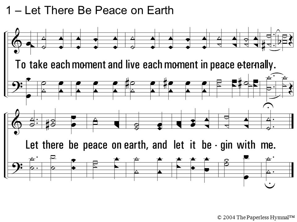 1 – Let There Be Peace on Earth