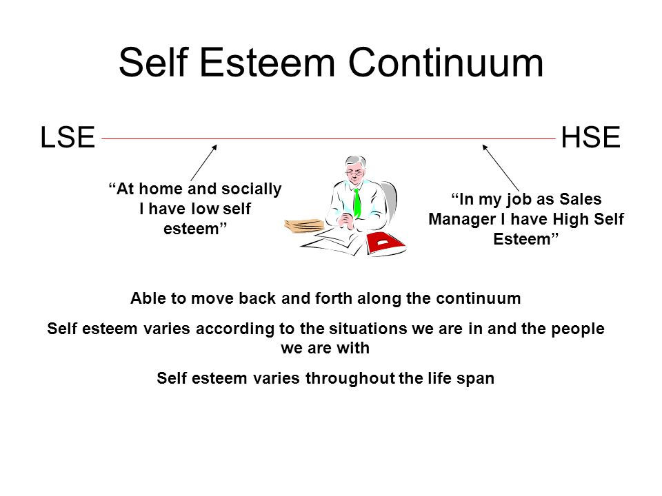 Self Esteem Continuum LSE HSE